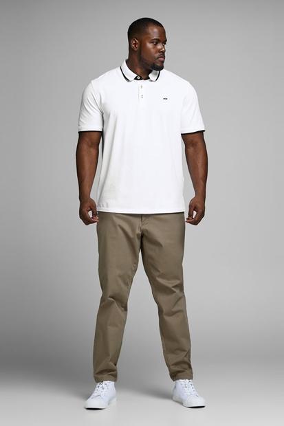 Paulos Polo Yaka Beyaz Erkek Tişört