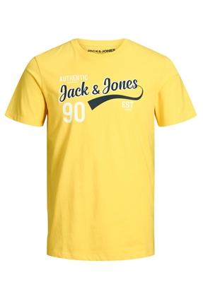 Jack & Jones Logo Tee Sarı Erkek Tişört