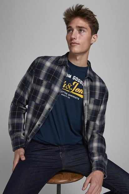 Logo Tee Lacivert Erkek Tişört