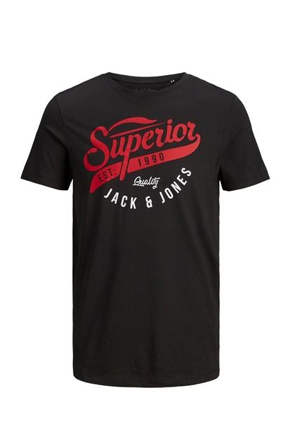 Logo Tee Siyah Erkek Tişört