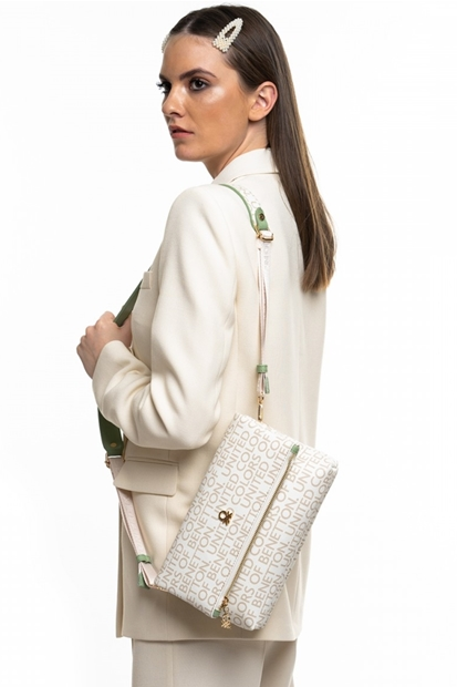 Bej Yeşil Kadın Çanta