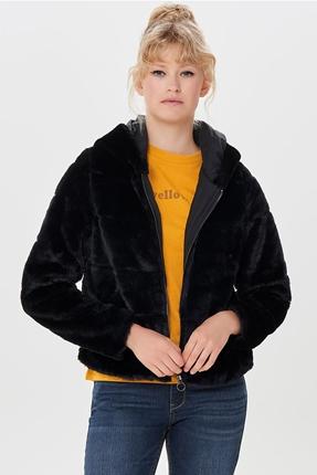 Chrıs Fur Hodeed Siyah Kadın Mont