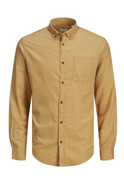 Classic Elange Sarı Erkek Gömlek