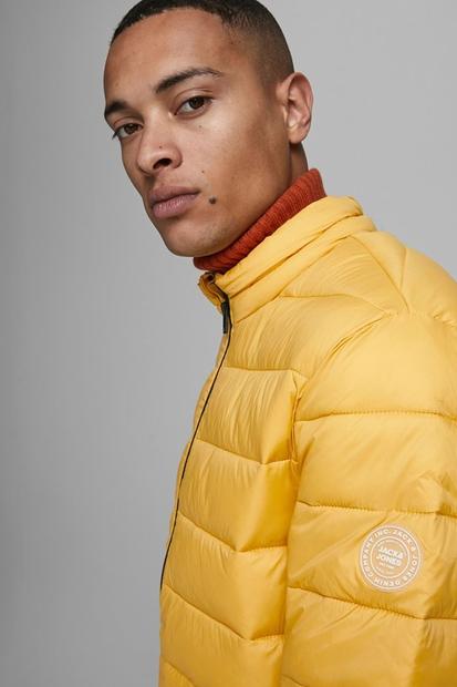 Agıc Puffer Collar Sarı Erkek Mont