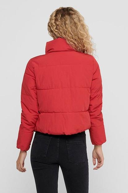 Doy Short Puffer Kırmızı Kadın Mont