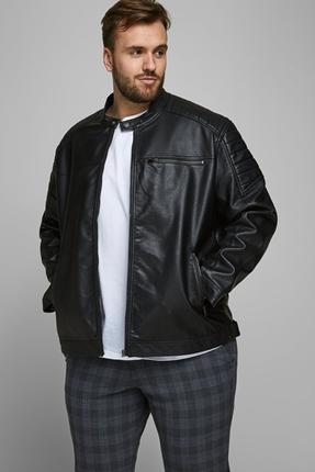 Siyah Erkek Deri Ceket