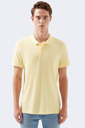 Polo Yaka Sarı Erkek Tişört
