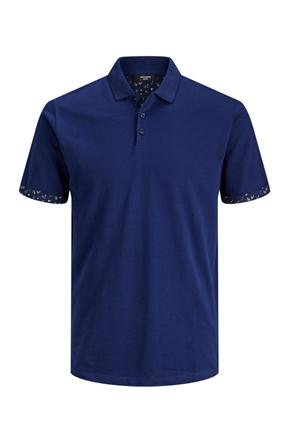 Polo Yaka Lacivert Erkek Tişört