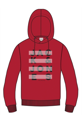 Jubo Hood Kırmızı Erkek Sweatshirt