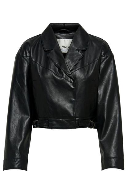 Saga Faux Leather Siyah Mont