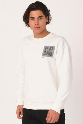 Relax Erkek Beyaz Sweatshirt