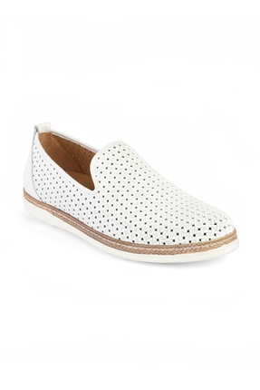 3397 Beyaz Erkek Loafer Ayakkabı