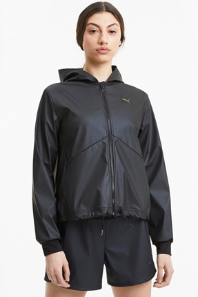 Train Warm Up Shimmer Siyah Spor Ceket
