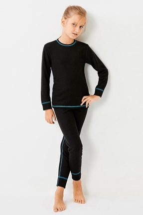 Ribana Çocuk Siyah Tayt Sweatshirt Set
