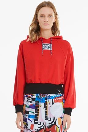 International Kırmızı Kadın Sweatshirt