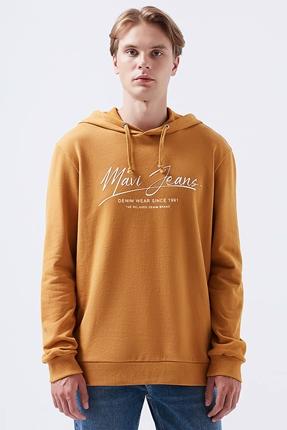 Turuncu Erkek Sweatshirt
