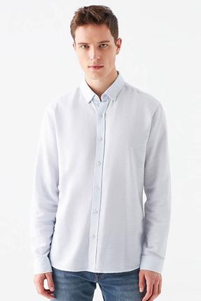 Uzun Kollu Mavi Spor Gömlek
