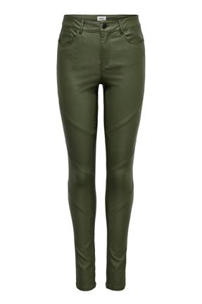 Slant Cut Kadın Yeşil Pantolon