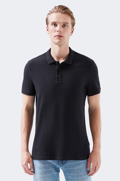Mavi Siyah Erkek Polo Yaka Tişört 064946-21842