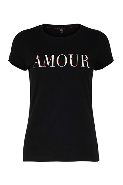 Only Fit Valentine Siyah Kadın Tişört 15173708