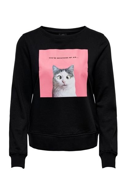 Only Bailey Kadın Siyah Sweatshirt 15186576-B