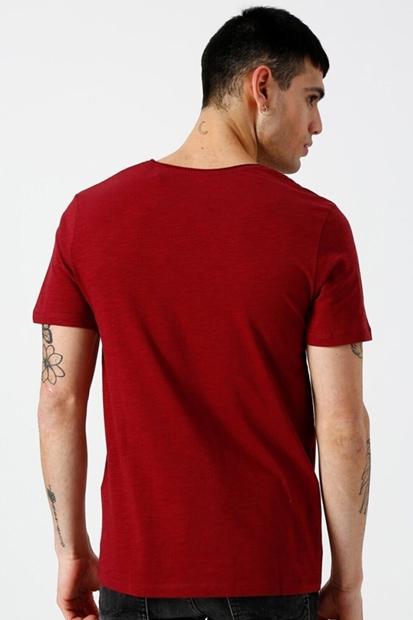 Jack & Jones Birch Tee Kırmızı Erkek Tişört 12136502-CN