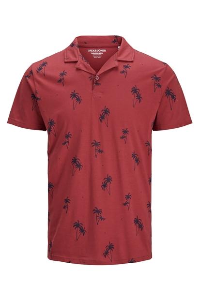 Jack & Jones Kırmızı Polo Yaka Erkek Tişört 12155589-BR
