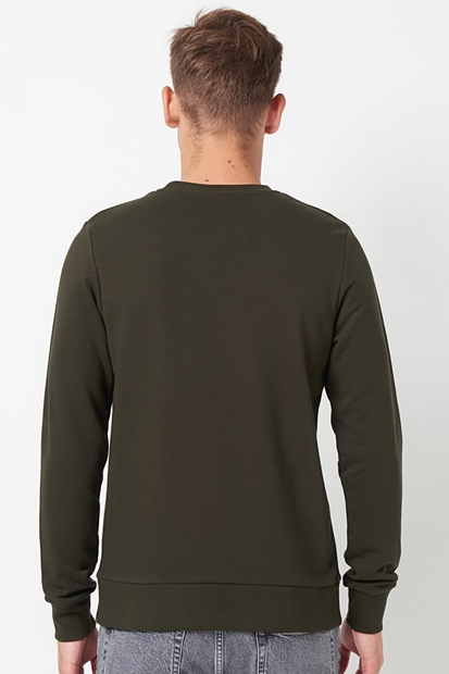 Jack & Jones Pilot Crew Neck Yeşil Erkek Sweatshirt 12161759-ROS