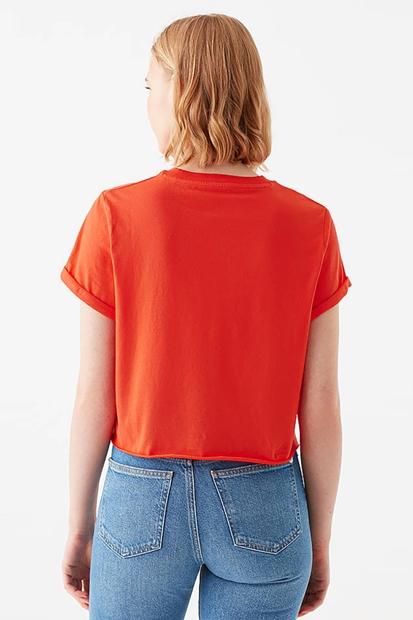 Mavi Turuncu Kadın Tişört 168220-33272