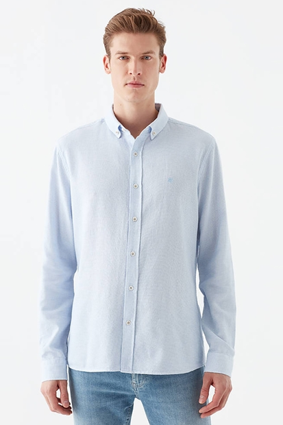 Mavi Erkek Saks Mavisi Gömlek 021542-31341