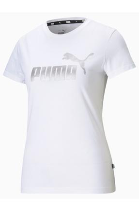 Essentials Metallic Kadın Beyaz Tişört