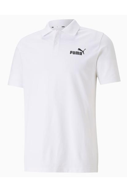 Puma Essentials Pique Beyaz Polo Yaka Tişört 586674-02