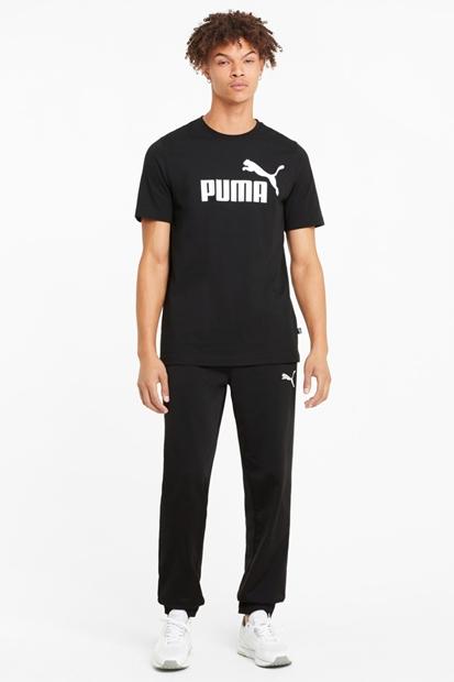 Puma Essentials Logolu Siyah Erkek Tişört 586666-01