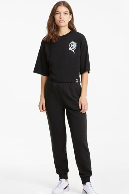 Puma Internatioal Graphic Siyah Kadın Tişört 599702-01