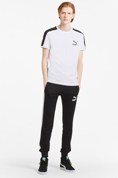 Puma Iconic T7 Beyaz Erkek Tişört 599869-02