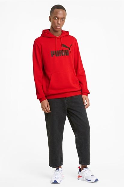 Puma Essentials Big Logo Kırmızı Erkek Sweatshirt 586688-11