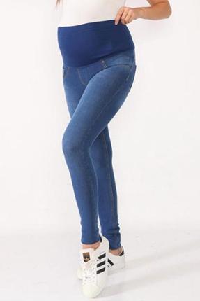 3690-Örme Doku Slim Fit Esnek Kot Pantolon