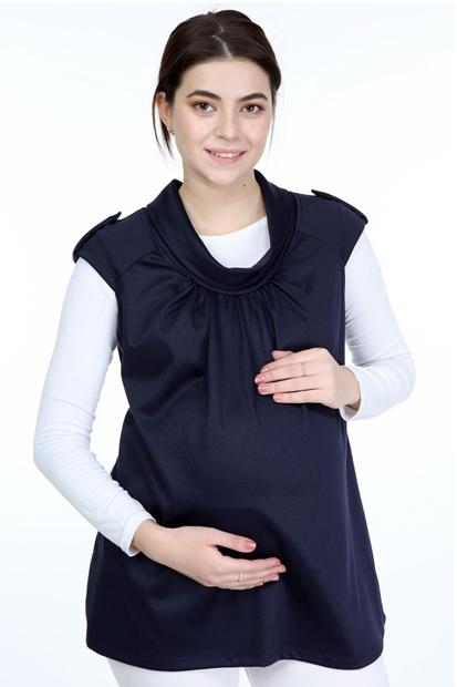 İşşıl 2012-Mini Degaje Çelik Örgü Apoletli Hamile Bluz İssisblz001
