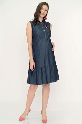 5114-Mini Puan Emzirmeli Hamile Kot Elbise