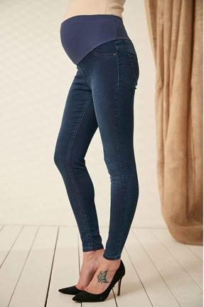 3335-Lycra Hamile Slim Fit Kot Pantolon