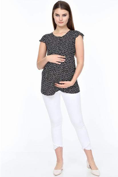 İşşıl 4433-Mini Kalp Emzirmeli Hamile Bluz 20Yisblz006