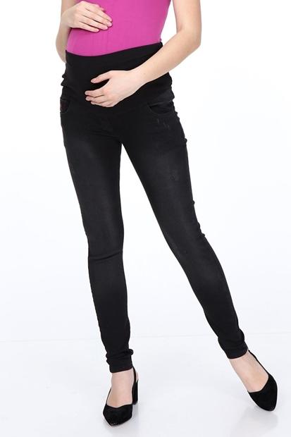 İşşıl 133-Taşlama Tirnak Slim Fit Hamile Kot Pantolon 19Kpmpnt008