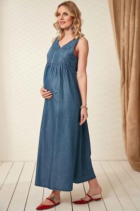 O7030-Emzirme Detay Hamile Maxi Jile Tencel Elbise