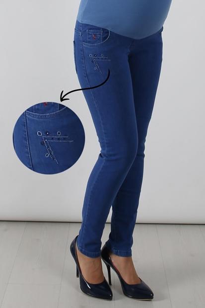 Işşıl 117 Taşlı Cep Slim Fit Hamile Kot Pantolon 19Kpmpnt006