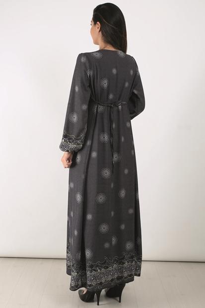 Işşıl 2153 Djital Gül Hamile Maxi Elbise 19Kenelb004