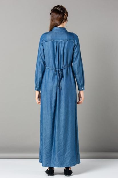 Işşıl 8620 Emzirmeli Hamile Maxi Tencel Elbise 19Kgrelb001