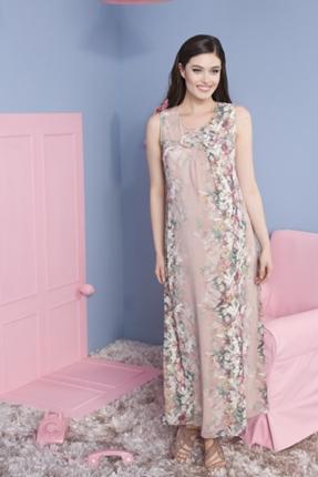 Fiyonklu Şifon Hamile Jile Elbise