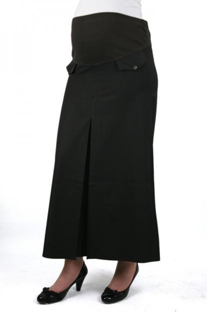 Işşıl Hamile Giyim Düğme Cepli Pileli Etek 13Yasetk001