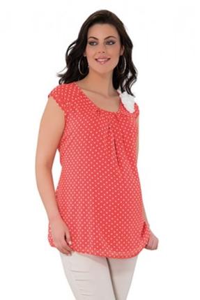 Hamile Giyim Şifon Puanlı Tunik