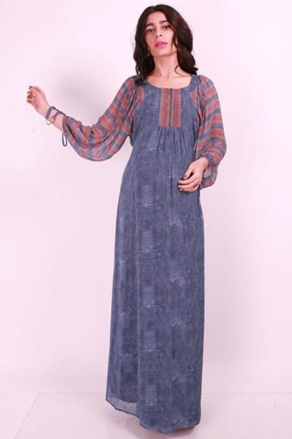 Işşıl Hamile Giyim Volkan Kol Sifon Elbise 16Ylvelb005